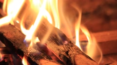 sparkler in a fireplace - stock footage