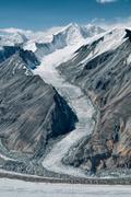 Glacier in tajikistan Stock Photos
