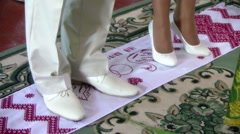 Married couple on a towel Stock Footage