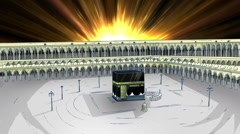 Holy Kaaba Under Light Stock Footage
