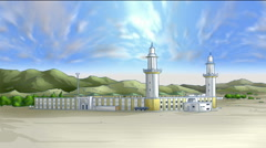 Holy Mosque Stock Footage