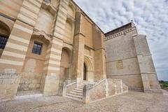 Wide angle view of Santa Clara Convent in Tordesillas Stock Photos