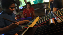Hand Loom on the Island of Yap Stock Footage