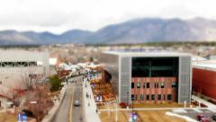 College Campus Tilt Shift Stock Footage