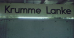 Stock Video Footage of Berlin 1970 70s 16mm Tram Train Station Krumme Lanke
