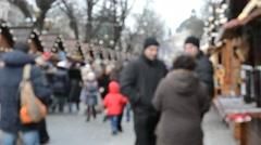 Stock Video Footage of Festivities for Christmas. Lviv, Ukraine.