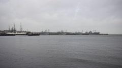 Gorch Fock and Naval Vessel Kiel Germany 3 Stock Footage