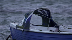 Fisherboat on stormy Baltic Sea 2 Stock Footage