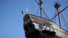 restaurant in the form of an old ship - stock footage