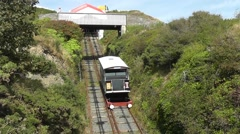 Medium shot - Cliff Railway descending from constitution hill Stock Footage