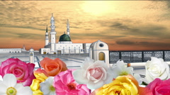 Prophet Mohammad Mosque Madinah City - stock footage