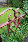 Stock Photo of old rusty gate close up