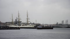 Gorch Fock and Naval Vessel Kiel Germany 2 Stock Footage