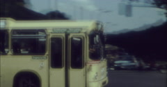 Berlin 1970 70s 16mm Bus Passing By Stock Footage