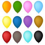 Vector illustration of balloon arch Stock Illustration