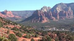 Sedona Arizona city valley red rock mountains HD 004 Stock Footage