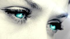 Glowing eyes blinking Stock Footage