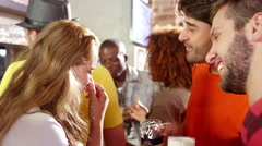 People Drinking and Talking at a Bar in Brazil Stock Footage
