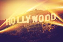 Hollywood california usa. world famous hollywood sign concept. Stock Photos