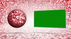Disco Dance Background, with Green Screen Stock Footage