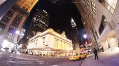 Grand Central Terminal in New York City at Night Stock Footage
