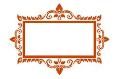 thai elegant art frame - stock illustration
