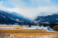 rocky mountains winter scenery. colorado, united states. - stock photo