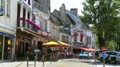 Small street in Beaune France Stock Footage