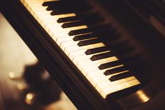 Piano closeup. modern piano instrument. Kuvituskuvat
