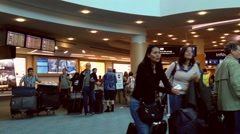 People waiting for thier friend or family at internation arrival lobby Stock Footage