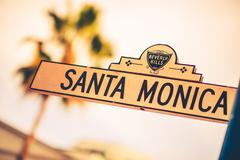 Santa monica street in the beverly hills, california, united states. Kuvituskuvat
