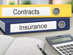 Contracts and insurance binders Stock Illustration