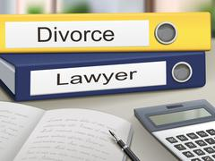 Divorce and lawyer binders Stock Illustration