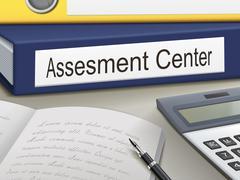 Stock Illustration of assessment center binders