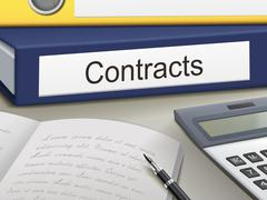 Contracts binders Stock Illustration