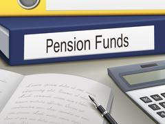 pension funds binders - stock illustration