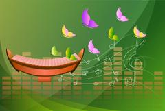 Xylophone, musical background Stock Illustration