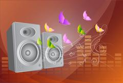 audio speakers and equalizer. - stock illustration