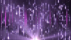 Stock Video Footage of fantasy abstract motion pink background shining star lights and particles