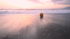 Sentimental surf  Mediterranean sea at sunset Stock Footage