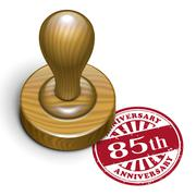 Stock Illustration of 85th anniversary grunge rubber stamp