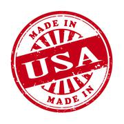 Made in usa grunge rubber stamp Stock Illustration