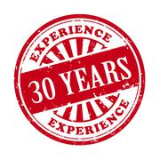 30 years experience grunge rubber stamp Piirros