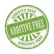 Additive free grunge rubber stamp Stock Illustration