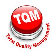 3d illustration of tqm total quality management button Stock Illustration