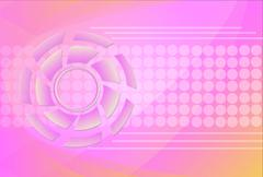 tech circle and arrow background - stock illustration