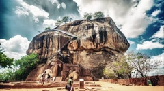 Sigiriya Sri Lanka HDR timelapse - stock footage