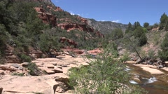 Ultra HD 4K Slide Rock Spring Stock Footage