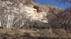 Sedona Montezuma Castle native Indian ruins tourists HD 003 Stock Footage