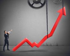 Raise the statistics Stock Photos